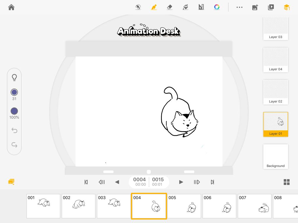 Animation-desk-interface